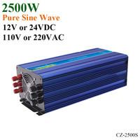 inversor de onda sinusoidal pura de 24vdc al por mayor-2500W Off Grid Solar Inverter o Wind Inverter, Surge Power 5000W 12V / 24VDC 110VAC o 220VAC Inversor de onda sinusoidal pura