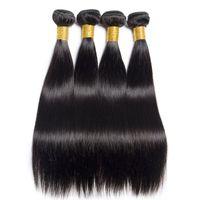 peruanischen haarbündel verkauf großhandel-Heißen Verkauf-peruanisches Gerade Virgin Haar spinnt Einen PC / Los Rohboden natürliche schwarze Jungfrau Remy Haar-Bundles Günstige brasilianische Haar-Verlängerungen