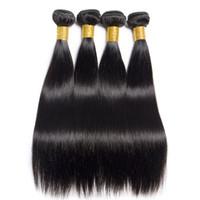 un pelo lacio remy al por mayor-Venta caliente peruano recto cabello virgen teje uno pcs / lote sin procesar Natural negro virgen Remy paquetes de pelo extensiones de cabello brasileño barato