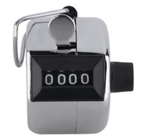 Wholesale hand held number counter for sale - Group buy Digits Stainless Counters Professional Digit Hand Held Tally Counter Manual Palm Clicker Number Counting Golf SN1123