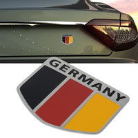 Wholesale race car emblems for sale - High Quality D Metal Germany German Flag Badge Car Front Grill Grille Emblem Stickers Racing Sports Decals Sticker