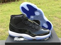 Wholesale Fibre Carbon - Space jam 11s real carbon fibre Basketball sheos man and women sneaker sports shoes with box free shipping