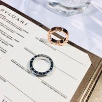 joyas de moda de boda de oro rosa al por mayor-S925 anillos de plata en oro rosa y platino plateado mujeres y hombres joyería de la boda regalo PS5533