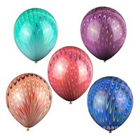 Wholesale Tail Balloons - New Pattern 18 Inch Latex Ornament Balloon Birthday Party Decoration Arrangement Children Peacock Tail Balloons 5 Color Selectable 15lj W