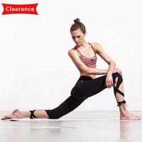 ingrosso collant da ballo di yoga-Pantaloni di yoga carino sport in esecuzione collant vita alta leggings fasciatura avvolgere pantaloni da ballo leggings per le donne allenamento fitness