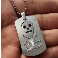 скелетные части оптовых-1 шт. Из нержавеющей стали игра аниме череп скелет ожерелье цельный пиратский логотип ожерелье мужская двухслойный съемный череп ожерелье таро