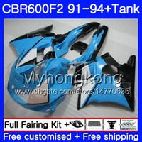 Wholesale honda c resale online - Body For HONDA CBR F2 FS CBR600RR CBR600 F2 MY CBR600FS CBR F2 C Light blue BR600F2 Fairing kit