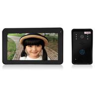 Wholesale door cameras monitor online - SY906A11 Inch TFT Screen Hands Free Intercom Doorbell GHZ touch key gsm access control door camera record