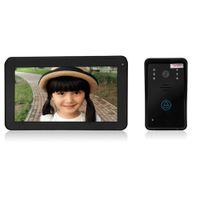 gsm tela livre venda por atacado-SY906A11 9 Polegada Tela TFT Hands Free Intercom Doorbell 2,4 GHz toque chave 7 '' gsm controle de acesso porta câmera registro