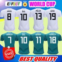 Wholesale flashing shirts - 2018 Germany World Cup Home white Away Green Soccer Jersey MULLER soccer shirt Draxler GOTZE OZIL KROOS BOATEN GUNDOGAN Football uniforms