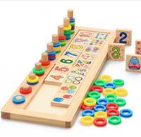 materiais montessori venda por atacado-Crianças De Madeira Materiais Montessori Aprendendo A Contar Números Correspondentes Educação Infantil Ensino de Matemática Brinquedos