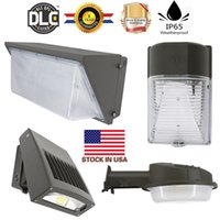 Wholesale Sensor Pack - 60W 80W 100W 120W Photocell Sensor Led Wall Lamps Outdoor Lights For Wall Pack Lamps Waterproof AC 85-277V UL FCC