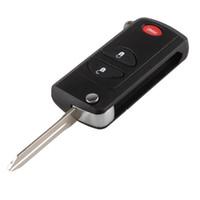 chrysler için anahtar kabuk toptan satış-IZTOSS 3 Düğme PanicFlip Katlanır Anahtarsız Uzaktan Fob Anahtar Kabuk Chrysler Dodge Jeep Için Kapak Durumda