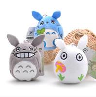 ingrosso giocattoli plutone-9CM Cartoon Totoro Ciondolo in peluche Farcito Soft Anime Totoro Portachiavi Ciondolo per borsa Giocattoli per bambini Giocattoli di Natale Regalo per bambole