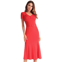 Wholesale modelling skirt resale online - 2018 women s dress explosion models Europe and America fashion folds wrapped chest Casual dress fishtail skirt