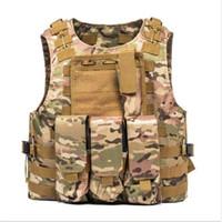 Wholesale vest airsoft resale online - 9 Colors CS Outdoor Clothing Hunting Vest USMC Airsoft Tactical Vest Molle Combat Assault Plate Carrier Tactical Vest Support FBA Shipping