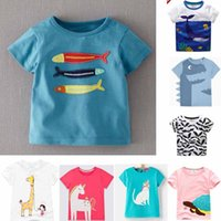 Wholesale free style shirts - 87 styles NEW summer Girl Boys Kids 100% Cotton Short Sleeve car print T shirt boys causal summer Girl Unicorn t shirt Free Ship