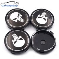 ingrosso le ruote del centro ruota emettono-Gzhengtong 4pc / lot 60mm Punisher centro auto ruota Caps Hubs Caps Emblem per Toyota