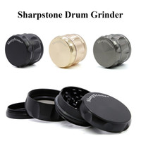 Wholesale grinder spices for sale - Group buy Sharpstone Grinder Drum Style Herb Grinders mm Inch Metal Spice Crusher Parts Individual Packing Box E Cigarette Accessories
