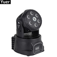 moving head bühnenbeleuchtung waschen groihandel-LED Moving Head Licht 6X8W Mini Wash Lights Bühne Weihnachtsfeier zeigt Ausrüstungen mit 500 MW grün / rot Laser neues Design