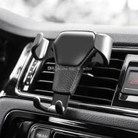 cep telefonları için araba beşiği toptan satış-Yerçekimi Araba Hava Firar Montaj Cradle Tutucu iPhone Cep Cep Telefonu GPS için Standı