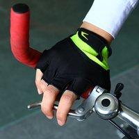 bisiklet eldivenleri mtb toptan satış-Bisiklet Eldiven Yarım Parmak Erkek kadın Yaz Spor Darbeye Bisiklet Eldiven JEL MTB Bisiklet Eldiven Guantes Ciclismo