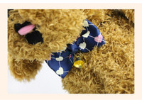 collar del gato corbata de lazo al por mayor-Dog Tie 2018 Ajustable Pet Grooming Accesorios Cat Dog Bow Tie con Bell pequeña Pet Dog Puppy Lovely Decor Pet Products