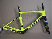 Wholesale grey foil - 2018 Foil Carbon Road Bike Frame UD Weave PF30 Bicycle Frameset racing bicycle frames size 47cm 49cm 52cm 54cm