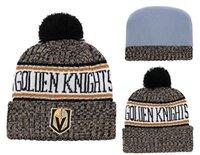 en iyi örme şapkalar toptan satış-Son Vegas Golden Knights Beanies Sideline Soğuk Hava En İyi Kalite Dikişli Örgü Şapkalar Tüm Takımlar kış Örme Yün Karma Kapaklar Can