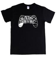 playstation oyun yastıkları toptan satış-SAVAŞ SAVAŞI - PS4 PAD - yaşlı adam kratos bilgisayar konsolu playstation oyunu S - 5XL Klasik Üst Tee Pamuk Erkekler T Shirt Yeni Kısa