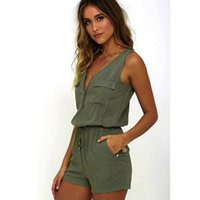 Wholesale sexy jumpsuits for women costume online - Fashion Women Sexy Jumpsuit Sleeveless Pants Bodysuit Top Combishort femme ete Macacao feminino Costumes for women cute Rompers