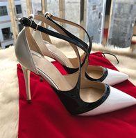 ingrosso nuove pompe sexy di modo-2018 Nuovo stilista di lusso Nuovo fondo rosso Pelle verniciata Moda sexy 8cm / 10cm / 12cm Tacchi alti Calzature da donna Scarpe da donna Scarpe
