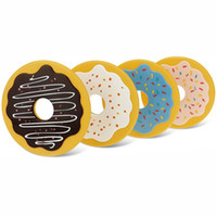 Wholesale coaster mats for sale - Group buy Round Donuts Cookies Shape Pad Soft Resuable Silicone Coasters Practical High Temperature Resistant Cup Mats New Arrival kb B