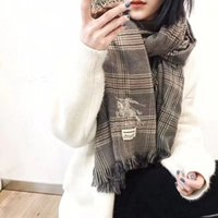 Wholesale Wool Scarf Large - Luxury brand scarf in 2018, large size 180cm*70cm scarf brand design embroidered scarf lady scarf.