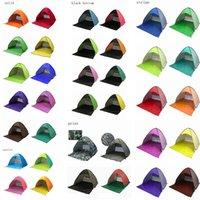 automatisches pop-up campingzelt großhandel-32 Farben Im Freien Schnelle Automatische Öffnung Zelte Pop Up Strandzelt Zelt Camping Zelte Für 2-3 Personen Haushaltszubehör AAA525