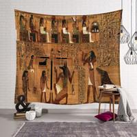antik dekor toptan satış-Antik Mısır dekor retro etnik duvar asılı halı dekoratif goblen 150 * 200 cm için tentür duvar gösterisi parça ev ofis
