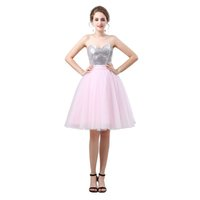 stocking flowers brooches 2018 - 2018 High Low Design Halter Knee length Short Evening Dress 6637MM High Customized Real Model Pink