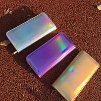 Wholesale hologram clutch for sale - Group buy Hot Sale Leather hologram wallet purse laser silver bag small women wallet female Mini Clutch purse designer female wallet