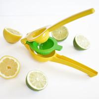 frei orangensaft großhandel-Double Bowl Zitronenpresse Orange Werkzeug Zitruspresse Manuelle Limettensaft Maker Küchenhelfer Kostenloser versand