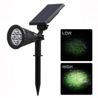 yüksek güçlü bahçe spotları toptan satış-Yeni Yüksek Kalite Güneş Spotlight Ayarlanabilir Güneş Enerjili Lamba 4 LED In-Zemin Işık Su Geçirmez Peyzaj Duvar Işık Açık bahçe