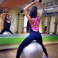 soutien-gorge à une pièce achat en gros de-Nouveau Femmes Dames Deux-en-un Sport Gym Yoga Gilet Soutien-Gorge Courir Pantalon Legging Dames Sportswear Yoga Wear Survêtements Set Bandages Stretch Piece