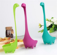 Wholesale kitchen utensils - Plastic Soup Cute Cartoon Spoon Nessie Ladle Large Soup Spoon Long Handle Scoop Kitchen Utensils Cooking Tools C118