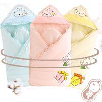 Wholesale Sleep Bags For Babies - Baby Bedding Sleep Blanket With Hat Newborn Cotton Warm Comfort Baby Sleeping Bag Envelop For Newborn Winter Blanket