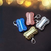 Wholesale lighted dog tags for sale - Group buy LED Pet Tag Colourful Bone Shape Dog Blinking Safety Night Walking Lights Keychain USB Charging Cat Puppy Collar Light Pendant xc C R