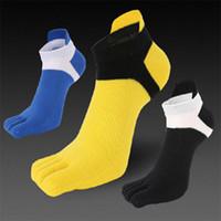 Wholesale wholesale black leggings designs - 2018 summer men's five fingers socks cotton breathable mesh leggings designer toe design five finger socks manufacturers wholesale