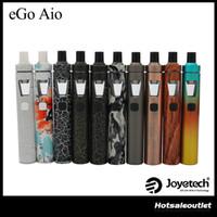 ingrosso kit originale di joyetech-Joyetech eGo Aio Kit con capacità 2.0ml 1500mAh Batteria Anti-perdita di struttura e blocco di sicurezza All-in-one Kit stile 100% originale