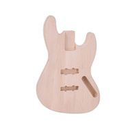 Wholesale bass bodies - Unfinished DIY JAZZ Guitar Body Basswood For Jazz Bass Guitar Fine Workmanship Free Shipping