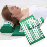 Wholesale pillow for massage - Yoga Massage Cushion Fitness Acupressure Mat and Pillow Set for Back and Neck  Muscle Relaxation tapis acupression