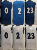 Wholesale white navy uniforms - Cheap Throwback Basketball Jerseys 0 Gilbert Arenas 2 Vinatge Uniforms Navy Blue White All Stitching Top Quality With Player Name