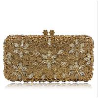 сумки для невест оптовых- Women Hard Pearl gold Clutch Bag Fashion Lady Beaded Small Evening Bag Hot Sale Bride Wedding Party Mini Shoulder Bags